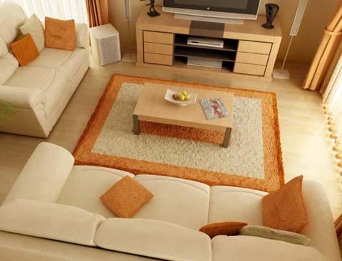 Thảm trải sàn phòng khách đẹp, đẳng cấp và sang trọng