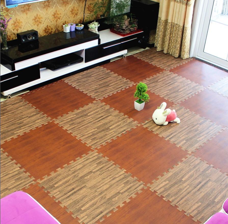 Thảm xốp trải sàn vân gỗ Âu Lạc 40*40*9 tấm