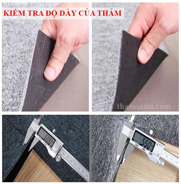 Hướng dẫn kiểm tra chất lượng thảm trải sàn