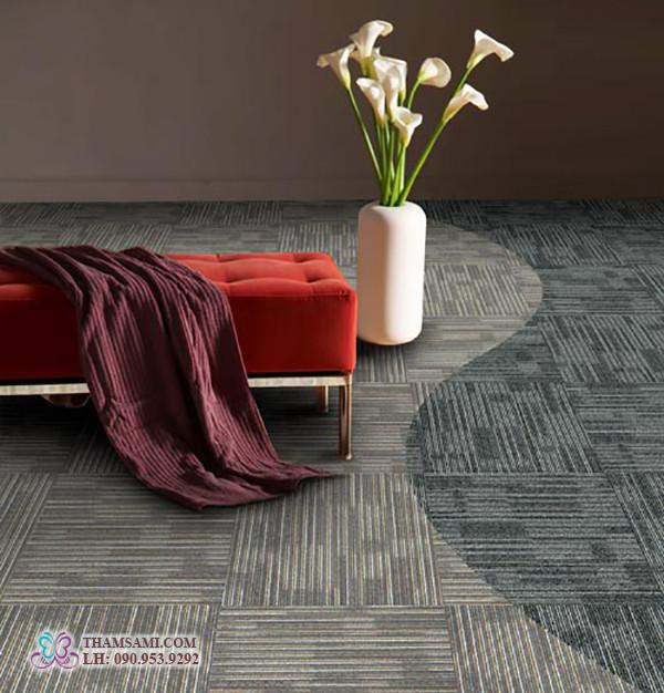 thảm gạch intersilk cho gia đình