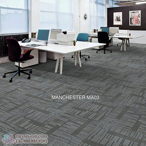 thảm manchester ứng dụng làm thảm văn phòng đẹp