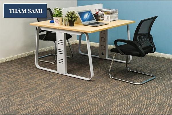 ứng dụng thảm manchester làm thảm văn phòng