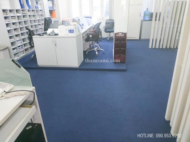 thi công lắp đặt thảm cuộn văn phòng hn