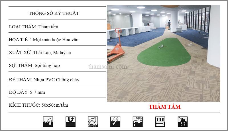thông số kỹ thuật thảm tấm văn phòng