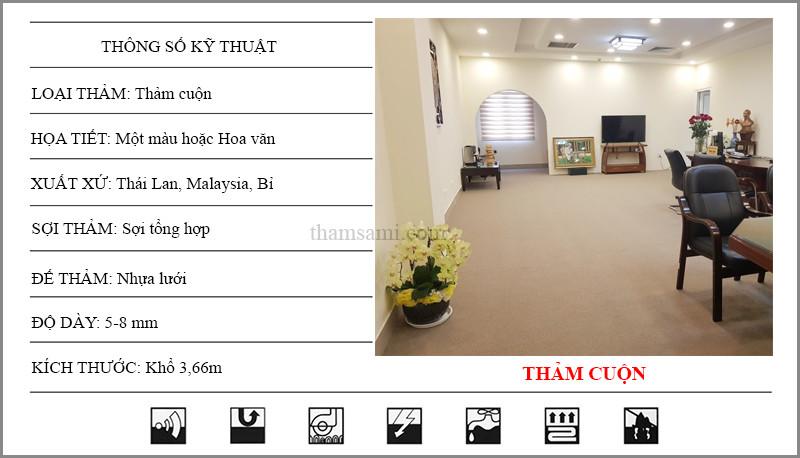 kích thước thảm cuộn trai sàn - thamsami.com