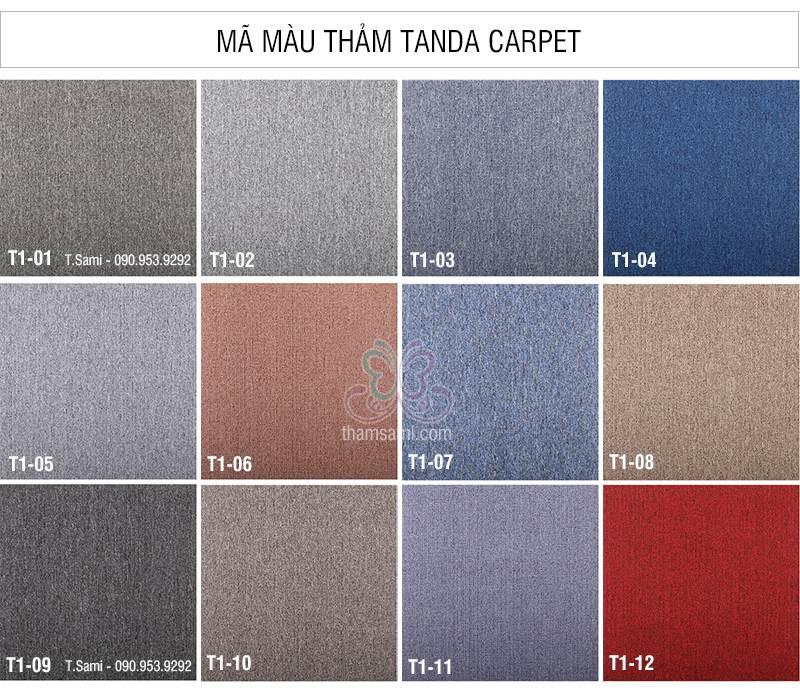 mã mầu thảm tấm tanđa - thamsami.com