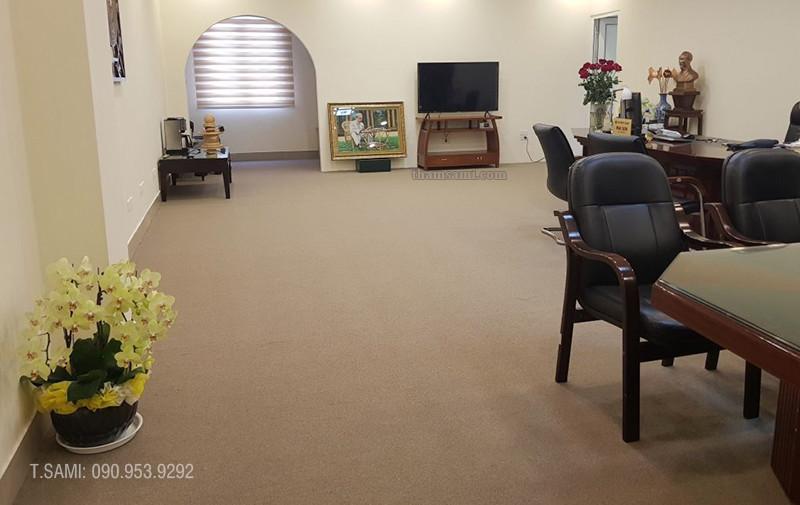 Thảm văn phòng cao cấp sử dụng thảm cuộn