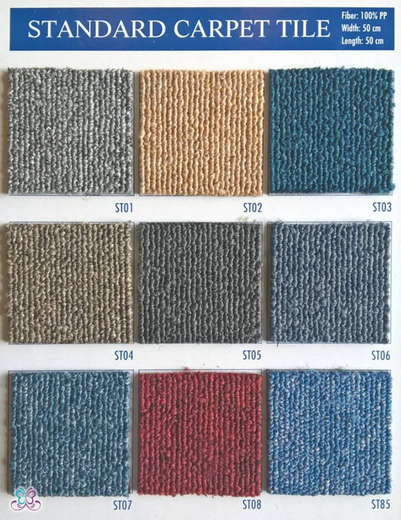 Bảng mã màu thảm tấm một màu Standard - thamsami.com