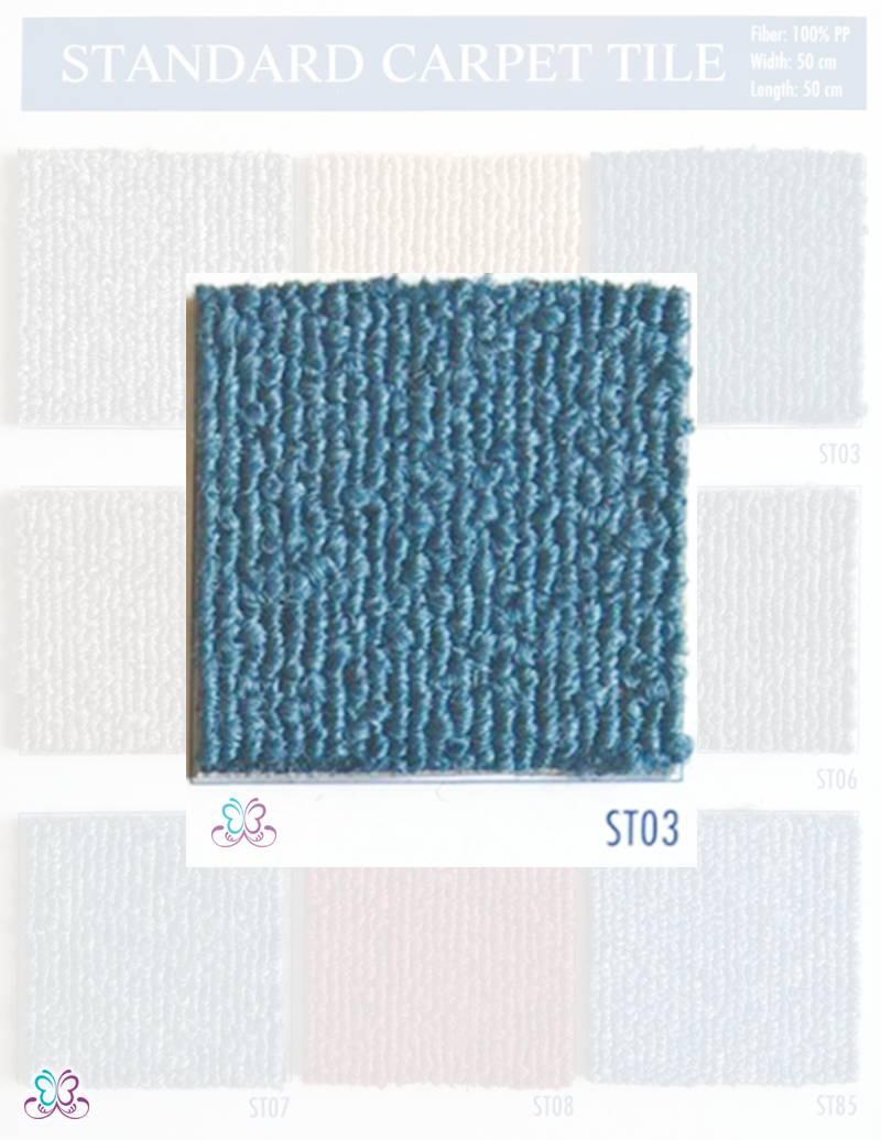 thảm tấm standard st03 có màu xanh - thamsami.com