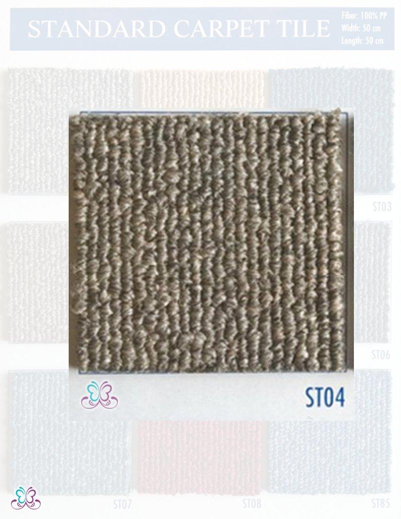 mã màu st04 thảm standard có màu nâu đất