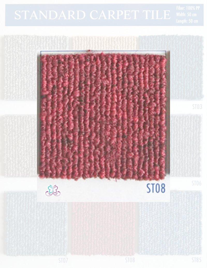 mẫu thảm tấm standard st08 có màu đỏ