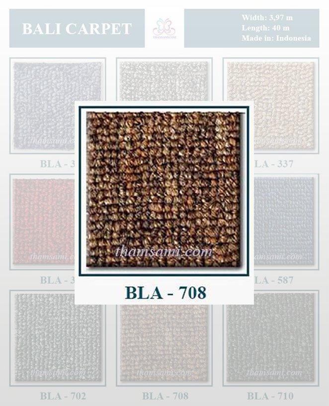 Mã màu thảm cuộn bali 708