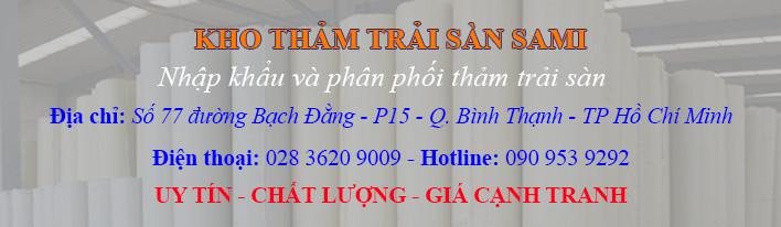 Kho thảm cuộn trải sàn lớn nhất tại Hồ Chí Minh