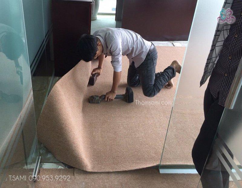 Thi công thảm cuộn văn phòng