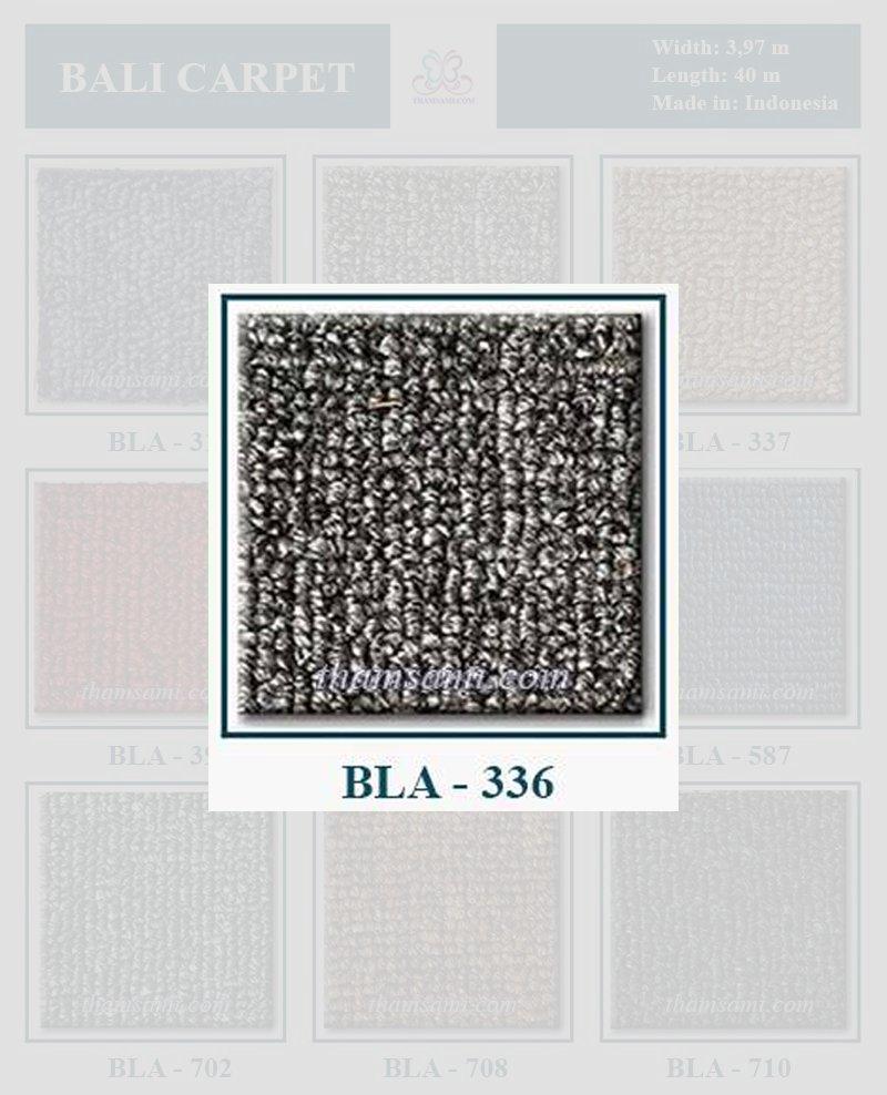 Bảng màu thảm cuộn bali 336 - thảm màu ghi