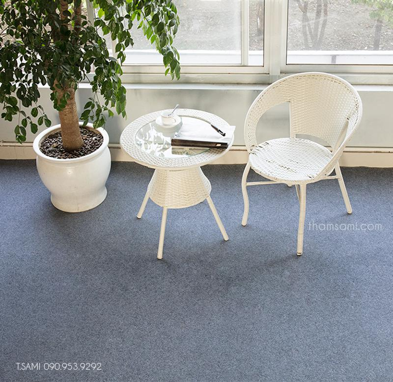 Hình ảnh mẫu thảm cuộn bali màu ghi