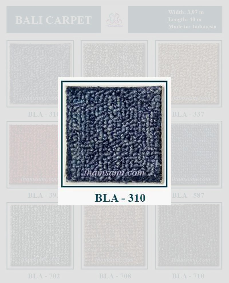 Mã thảm cuộn bali 310 là thảm màu xanh