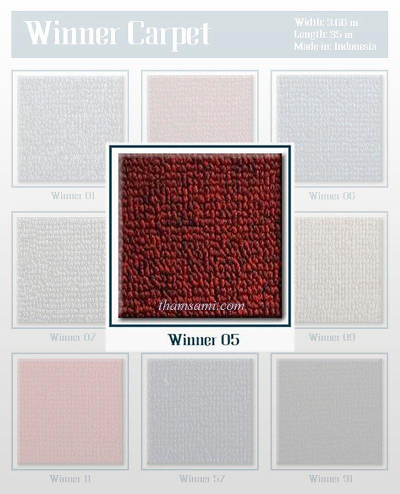 Bảng màu thảm cuộn winner 05 - thảm màu đỏ
