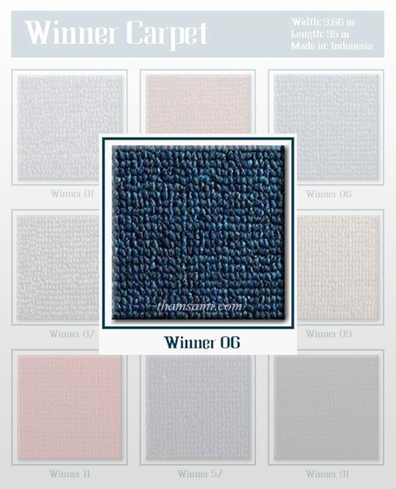 Thảm cuộn Winner 06 có màu xanh thẩm