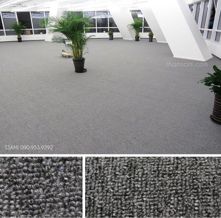 thảm văn phòng màu ghi sử dụng thảm cuộn