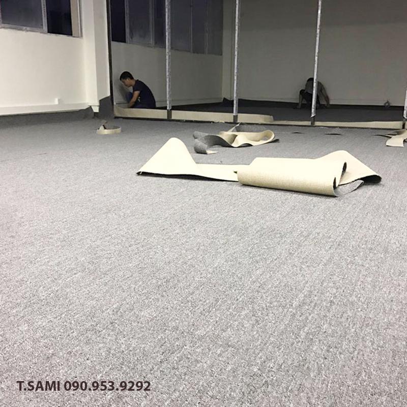 Lắp đặt thảm cuộn văn phòng tại Hồ Chí Minh