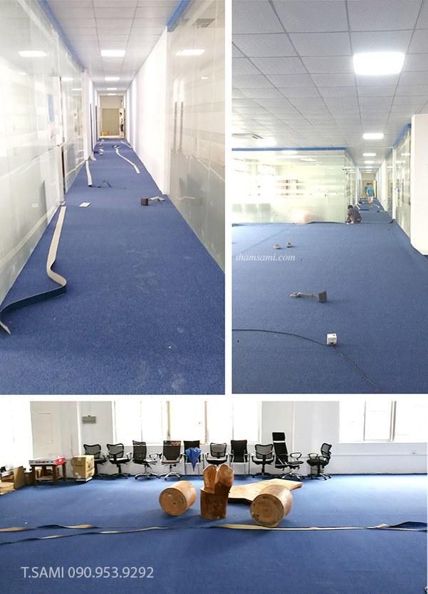 Lắp đặt thảm cuộn văn phòng tại phòng họp và hành lang lối đi