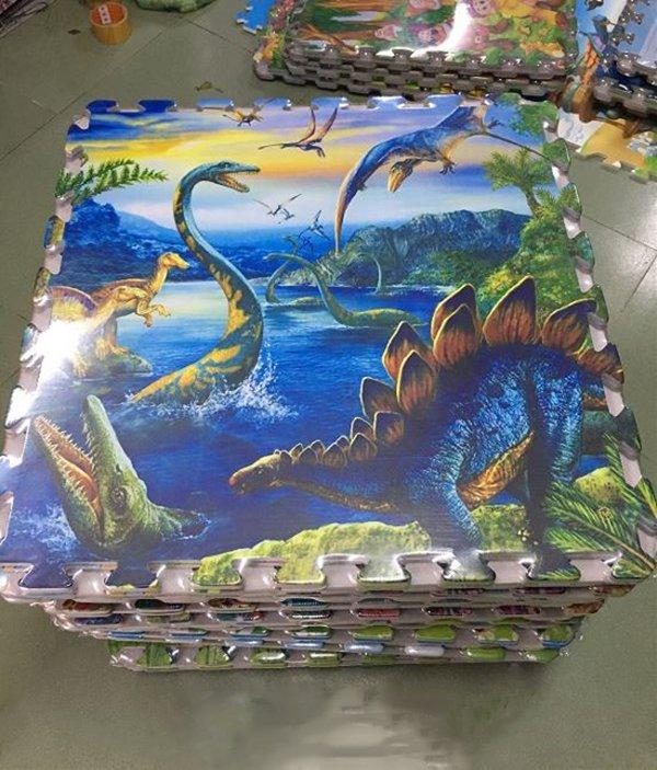 Tấm xốp ghép 60x60 in hình khủng long