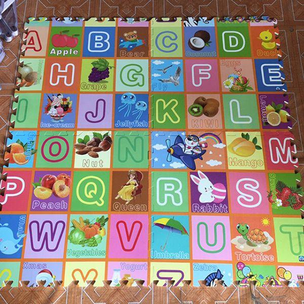 Thảm xốp lót sàn 60x60 học chữ cho bé