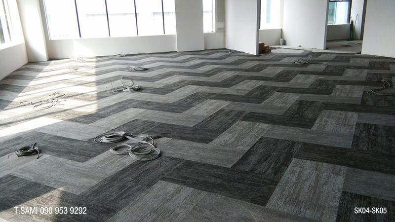 thảm tấm đế cao su 25x100cm
