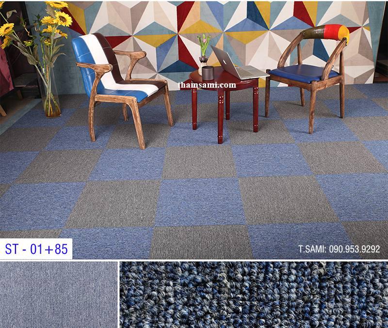thảm tấm trải sàn một màu đế cao su