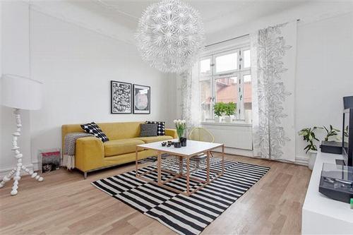 Mang nét độc đáo cho ngôi nhà bằng thảm trải sàn họa tiết kẻ sọc