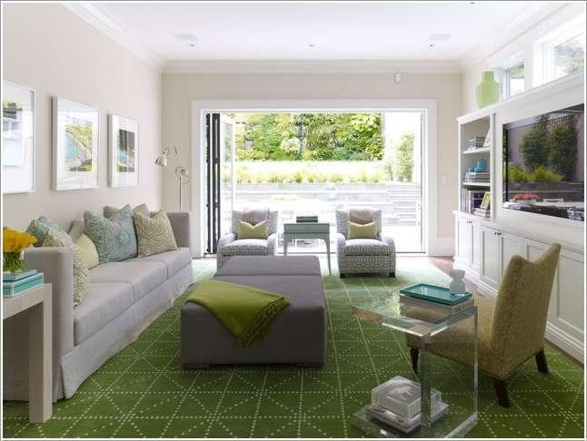 Thảm trải sàn màu xanh dành cho gia chủ yêu thiên nhiên