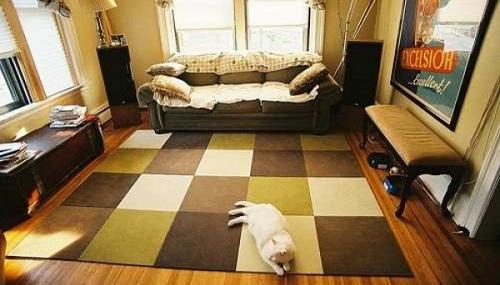 Thảm tấm ghép miếng phù hợp với không gian nào?