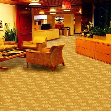 Thảm trải sàn màu vàng thể hiện đẳng cấp của gia chủ
