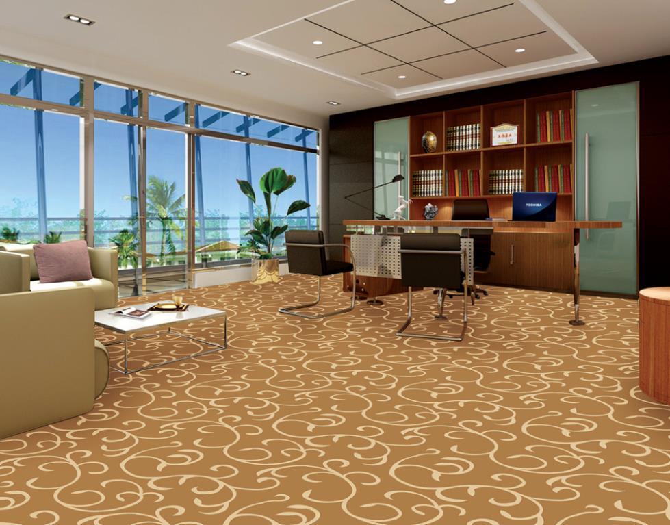 Thảm trải sàn văn phòng màu nâu hợp với sếp mệnh Mộc