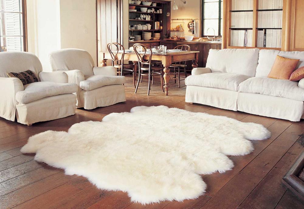 Mua thảm lông xù màu trắng đón giáng sinh