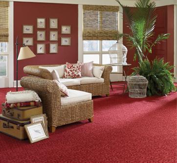 Thảm cuộn văn phòng màu đỏ Bỉ cao cấp cho không gian thêm sang trọng