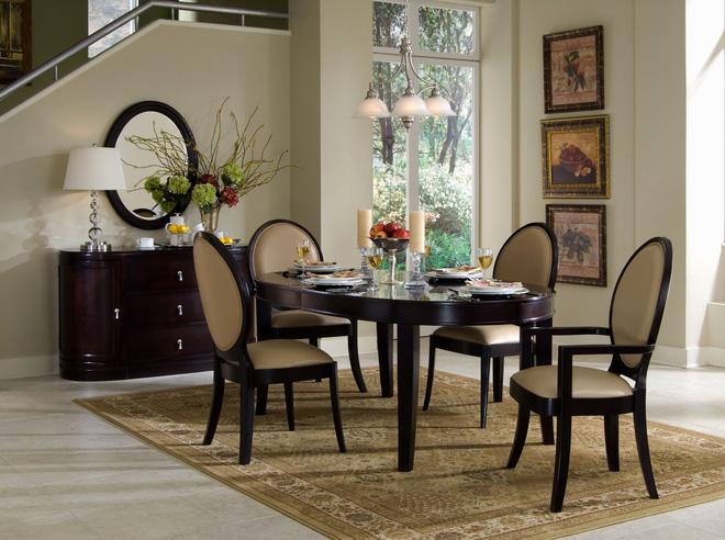 Hướng dẫn tạo không gian phòng ăn đẹp với nhiều cách phối hợp thảm dưới bàn ăn