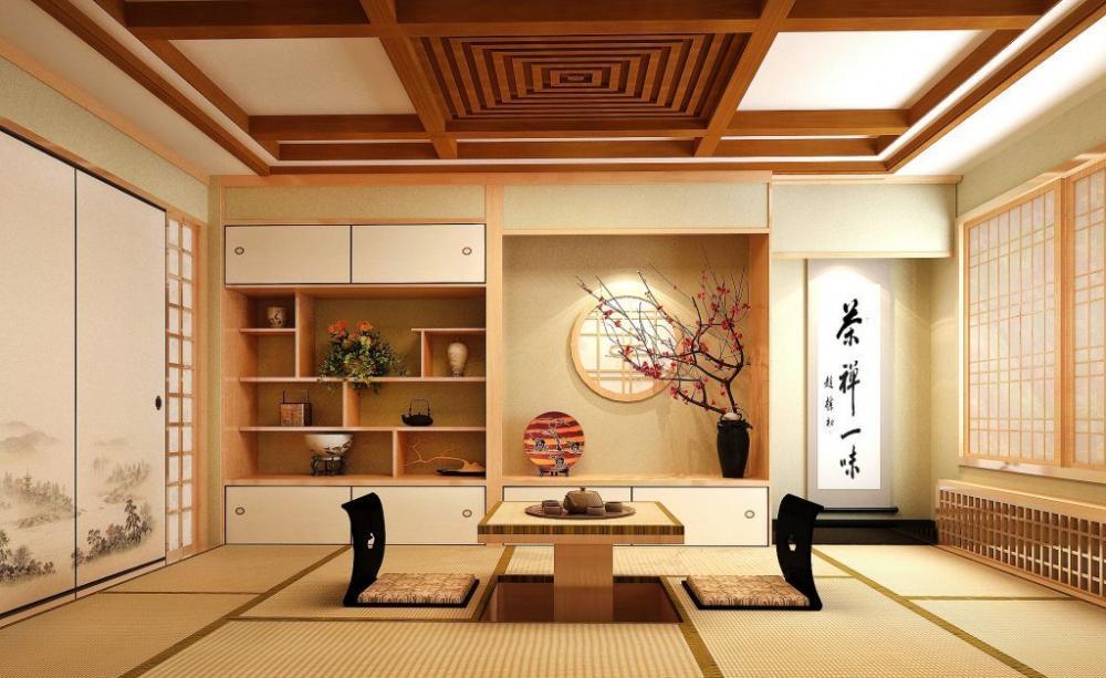 Thiết kế không gian nội thất với thảm trải sàn kiểu Nhật