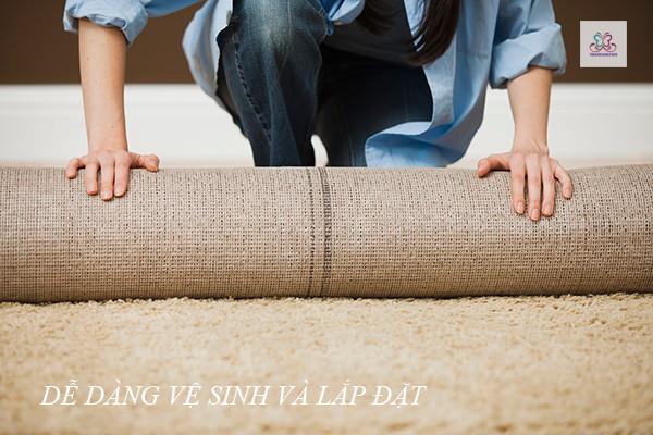 Mách bạn cách làm căng thảm trải sàn hiệu quả