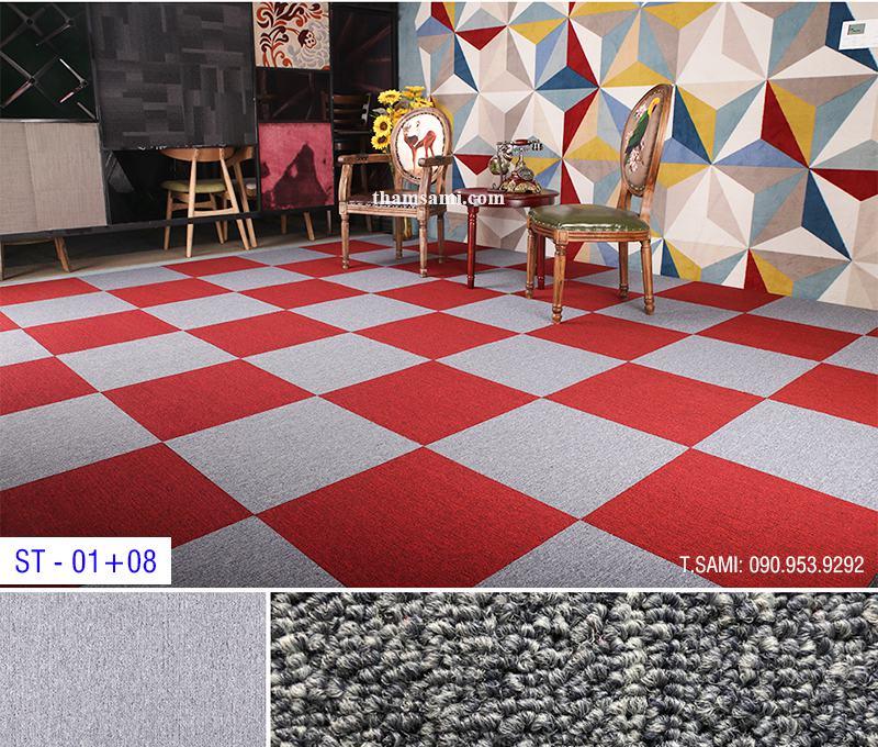 Cách phối hợp thảm tấm màu đỏ với các gam màu khác